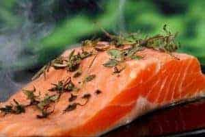 лосось с зеленью