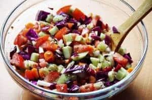 здоровый овощной салат