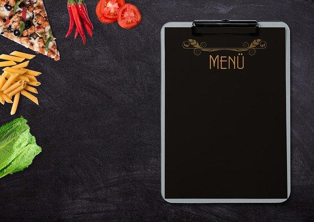 продукты питания и меню