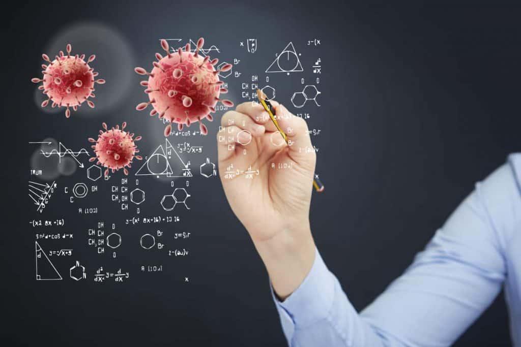 Рисование химических формул на доске
