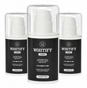 чёрная зубная паста Whitify Carbon