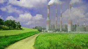 Дымовые трубы завода