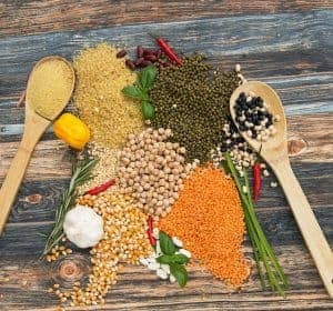 зерно и бобовые