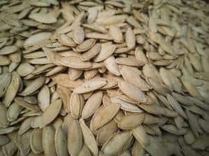 Высушенные семена тыквы