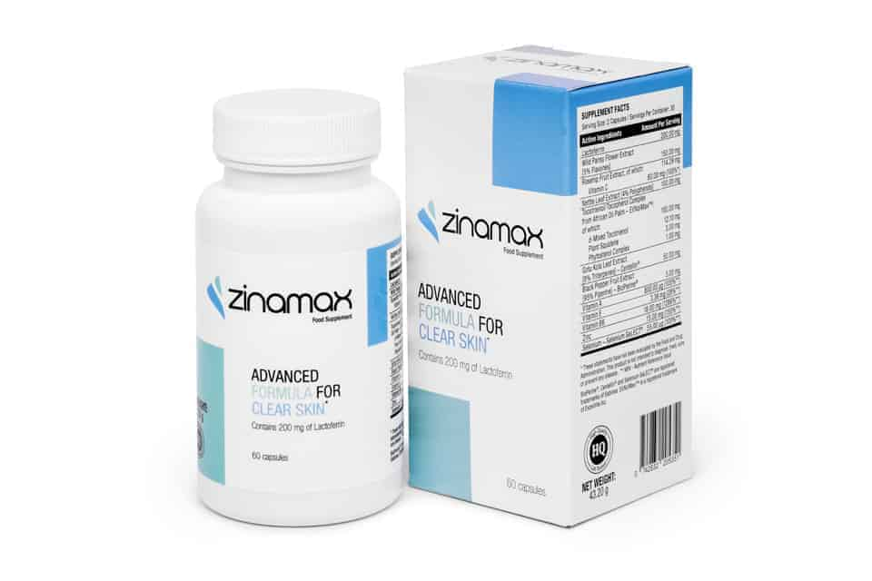 Таблетки от прыщей Zinamax
